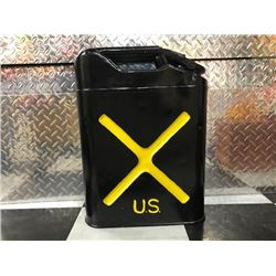 NO RESERVE BLACK AND YELLOW US OIL CAN