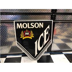 NO RESERVE MOLSON ICE SIGN