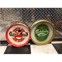 NO RESERVE COLLECTIBLE TRAYS TETLEY FINE ALES AND CARLSBERG BEER