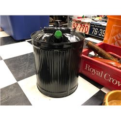 NO RESERVE BLACK AND GREEN CUSTOM GAS CAN