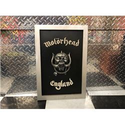 NO RESERVE COLLECTIBLE MOTORHEAD ENGLAND SIGN