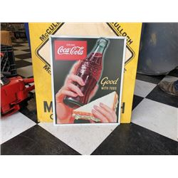 NO RESERVE COCA COLA COLLECTIBLE SIGN GOOD WITH FOOD