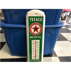 NO RESERVE TEXACO MOTOR OIL THERMOMETER