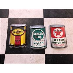 NO RESERVE UNIQUE COLLECTION OF SIGNS PENNZOIL QUAKER STATE TEXACO MOTOR OIL
