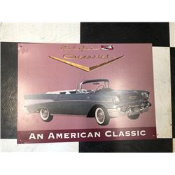 NO RESERVE CHEVROLET BEL AIR AN AMERICAN CLASSIC COLLECTIBLE SIGN