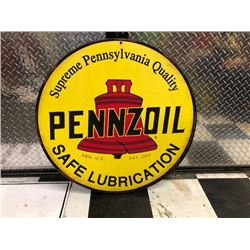 NO RESERVE PENNZOIL COLLECTIBLE SIGN