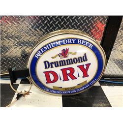 NO RESERVE COLLECTIBLE DRUMMOND BREWERY LIGHT UP SIGN