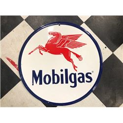 NO RESERVE VINTAGE COLLECTIBLE MOBILGAS SIGN