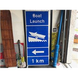 NO RESERVE EXTRA LARGE HEAVY DUTY BOAT LAUNCH SIGN