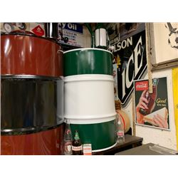 NO RESERVE CUSTOM GAS PUMPS BLACK AND BROWN WHITE AND GREEN SELLING AS ONE LOT