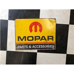 NO RESERVE VINTAGE MOPAR PARTS AND ACCESSORIES COLLECTIBLE SIGN