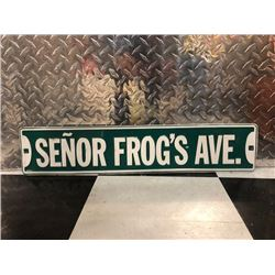 NO RESERVE SENOR FROGS AVE SIGN