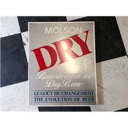 NO RESERVE COLLECTIBLE MOLSON DRY SIGN