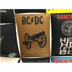 NO RESERVE FOR THOSE ABOUT TO ROCK ACDC COLLECTIBLE FLAG