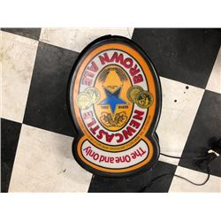 NO RESERVE NEWCASTLE BROWN ALE HANGING LED SIGN