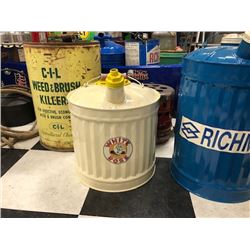 NO RESERVE WHITE ROSE GAS CAN