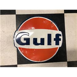 NO RESERVE VINTAGE GULF COLLECTIBLE SIGN