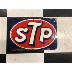NO RESERVE VINTAGE COLLECTIBLE STP SIGN