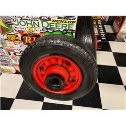 NO RESERVE TWO VINTAGE WOODEN WHEELS SELLING AS ONE LOT