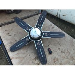 NO RESERVE CUSTOM HARLEY DAVIDSON CEILING FAN WITH REMOTE CONTROL