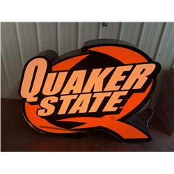 NO RESERVE EXTRA LARGE LED COLLECTIBLE QUAKER STATE SIGN
