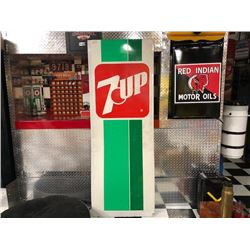 NO RESERVE RARE VINTAGE EXTRA LARGE 7UP SIGN