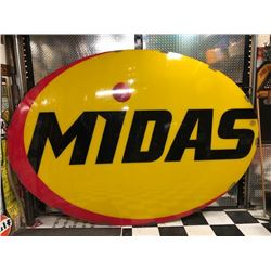 NO RESERVE RARE EXTRA LARGE MIDAS SIGN