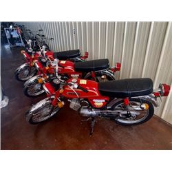 THREE 1978 SUZUKI A100 SHRINER MOTORCYCLES WITH LOW LOW KM 3 FOR 1 NO RESERVE