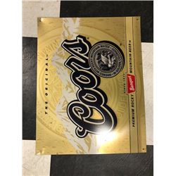 NO RESERVE COORS BEER COLLECTIBLE SIGN