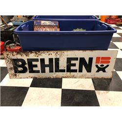 NO RESERVE BEHLEN COLLECTIBLE SIGN