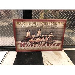 NO RESERVE THREE WINCHESTER FACTORY LOADED SHOTGUN SHELLS COLLECTIBLE SIGNS SELLING AS ONE LOT