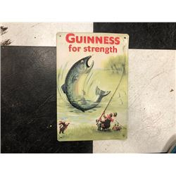 NO RESERVE GUINESS FOR STRENGTH FISHING COLLECTIBLE SIGN