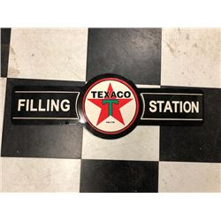 NO RESERVE TEXACO FILLING STATION COLLECTIBLE SIGN
