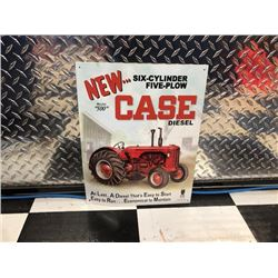 NO RESERVE CASE TRACTORS COLLECTIBLE SIGN FEATURING MODEL 500