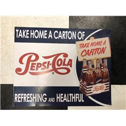 NO RESERVE COLLECTIBLE PEPSI SIGN