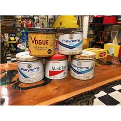 NO RESERVE VINTAGE CIGARETTE TINS 5 SELLING AS ONE LOT