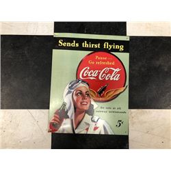 NO RESERVE COCA COLA COLLECTIBLE SIGN SEND THIRST FLYING