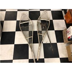 NO RESERVE VINTAGE TWO PAIRS OF SNOW SHOES SELLING AS ONE LOT