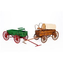 Two Painted Wagons