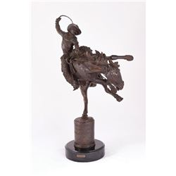 Harry Jackson, bronze on marble base