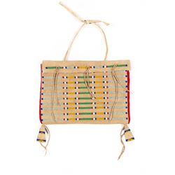 Crow Beaded Teepee Bag