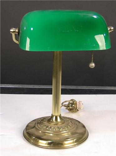 Brass desk lamp with green shade aloadofball Choice Image