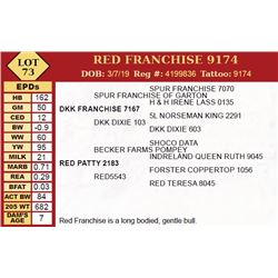 RED FRANCHISE 9174