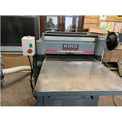"""King 20"""" Industrial Planer with vacuum"""