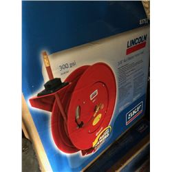 Lincoln air/ water hose with reel