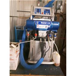Graco Reactor E-20 (used 25 hours)#AP9025 with 1 gun and 2 hoses and barrels