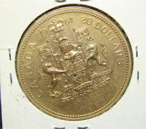 1967 Canadian 20 Gold Coin