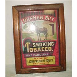 VINTAGE ORPHAN BOY SMOKING TOBACCO SIGN