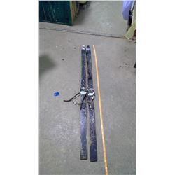 Pair of Wooden Skis