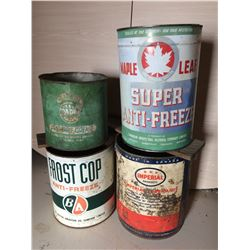 Antifreeze, Grease and Oil Tins